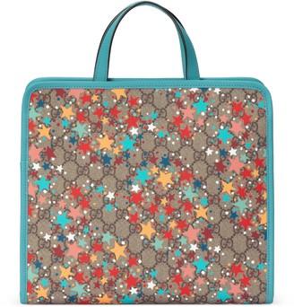 Gucci Children's GG star print tote bag