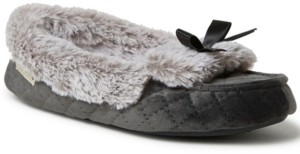 Dearfoams Women's Quilted Velour Moccasin Slippers, Online Only