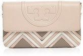 Tory Burch Fleming Tricolor Geo Clutch