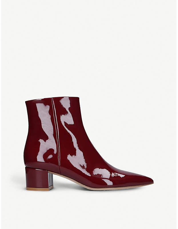 Gianvito Rossi Elite 45 patent-leather ankle boots