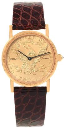 Corum Gold 18K Yellow Gold 10 Dollars Coin Year 1881 Women's Wristwatch 27 MM