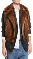 Brunello Cucinelli Mink Fur Moto Vest
