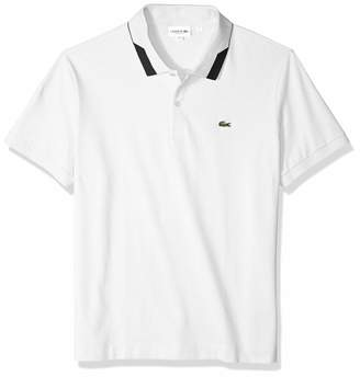 Lacoste Men's S/S Pique Regular FIT Printed Color Polo
