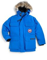 Canada Goose Boy's Fur-Trimmed Down-Filled Parka