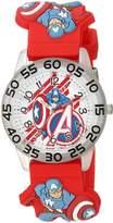 Marvel Boy's 'Captain America' Quartz Plastic Casual Watch, Color: (Model: WMA000031)