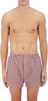Barneys New York Men's Gingham Cotton Poplin Boxers