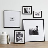 Crate & Barrel 5-Piece Matte Black Picture Frame Set
