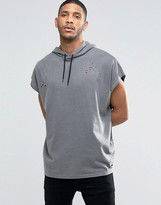 Asos Super Oversized Heavyweight Jersey Hooded T-Shirt With Distressing
