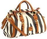 Dooney & Bourke Zebra Fabric Jones Bag (Zebra/Natural Trim) - Bags and Luggage