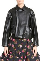 Comme des Garcons Asymmetrical Faux Leather Jacket