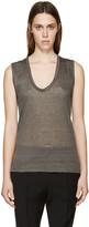 Isabel Marant Grey Linen T-shirt