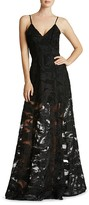 Dress the Population Florence Swirl Appliqué Gown