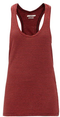 Etoile Isabel Marant Avien Striped Scoop-neck Cotton-linen Tank Top - Red