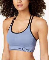Calvin Klein Strappy-Back Low-Impact Sports Bra