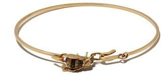 Delfina Delettrez 18kt yellow gold Bee motif bracelet