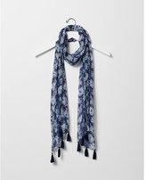 Express floral print metallic scarf