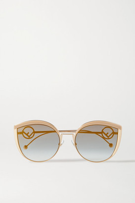 Fendi Cat-eye Enamel And Gold-tone Sunglasses