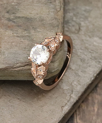 Designs By Karamarie Designs by KaraMarie Women's Rings silver - Cubic Zirconia & 14k Rose Gold-Plated Multi-Stone Ring