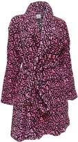 Totally Pink! Leopard Print Plush Robe for women