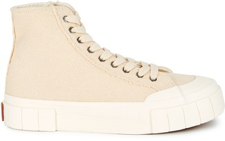 Good News Palm ecru canvas hi-top sneakers