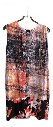 MSGM Orange Silk Dresses