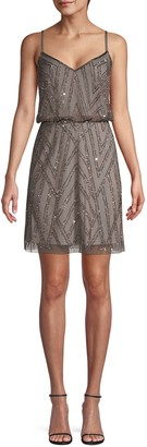 Adrianna Papell Embellished Blouson Cocktail Dress