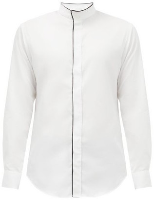 Giorgio Armani Piped-placket Cotton-twill Shirt - White