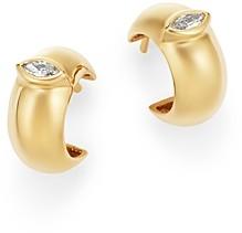 Zoë Chicco 14K Yellow Gold Diamond Thick Huggie Hoop Earrings