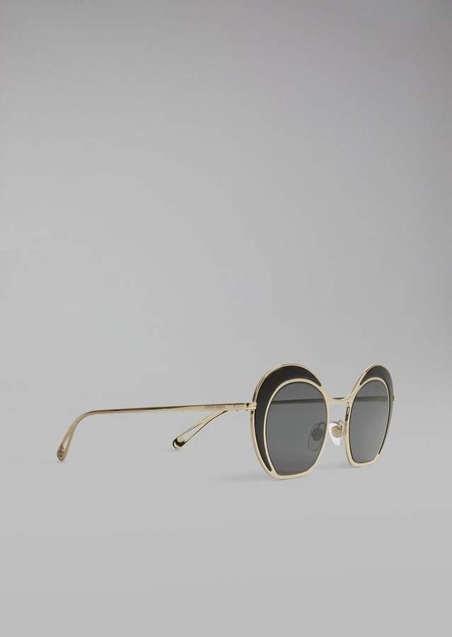 Giorgio Armani Sunglasses With Double Circle Frame
