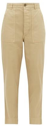 Officine Generale Saskia Patch-pocket Cotton-canvas Trousers - Beige