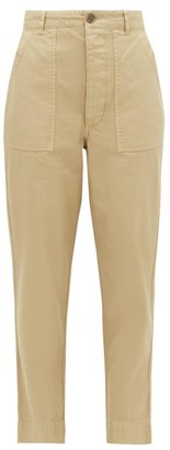 Officine Generale Saskia Patch-pocket Cotton-canvas Trousers - Womens - Beige