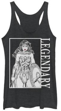Fifth Sun Dc Wonder Woman Legendary Portrait Tri-Blend Women's Racerback Tank