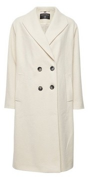 Dorothy Perkins Womens White Double Breasted Coat, White