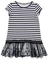 Ermanno Scervino Striped Viscose Sweatshirt Dress