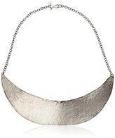Melissa Joy Manning Mixed Metals Silver Hammered Collar Necklace
