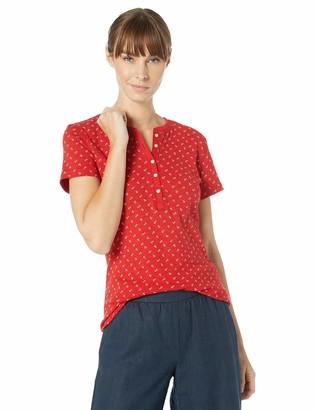 Chaps Women's Short Sleeve Cotton Henley