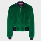 Paul Smith Women's Green Faux-Fur Bomber Jacket