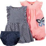 Carter's Baby Girl Dress & Romper Set
