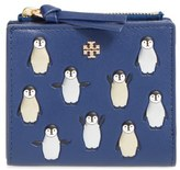 Tory Burch Women's Embossed Leather French Wallet - Blue