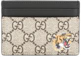 Gucci tiger print GG Supreme card holder - men - Polyurethane - One Size