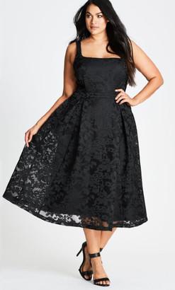 City Chic Jackie O Dress - black