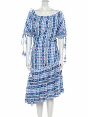 Dodo Bar Or Printed Knee-Length Dress Blue
