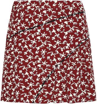 BA&SH Jupe Printed Crepe Mini Skirt