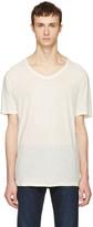 Alexander Wang Ivory Silk-blend T-shirt