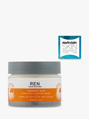 REN Overnight Glow Dark Spot Sleeping Cream, 50ml