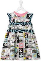 Fendi space comic strip dress - kids - Silk/Cotton/Spandex/Elastane - 4 yrs