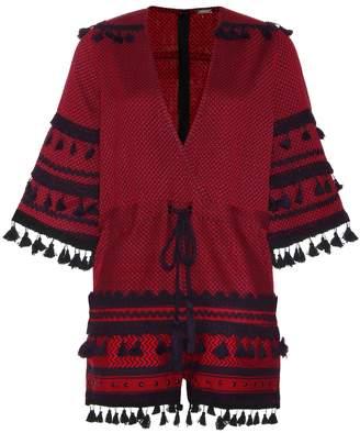 Dodo Bar Or Embellished cotton playsuit