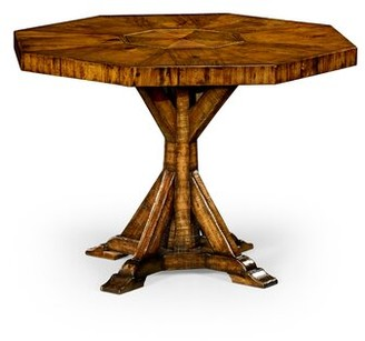 Jonathan Charles Fine Furniture Solid Wood Dining Table Color: Country Farmhouse Walnut