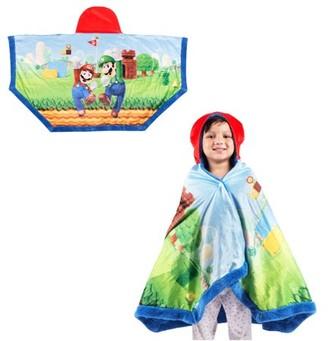 "3.1 Phillip Lim Super Mario Super Soft and Cozy Snuggle Wrap Hoodie Blanket, 55"" x"