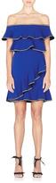 Rebecca Vallance Blue Billie Ruffle Dress